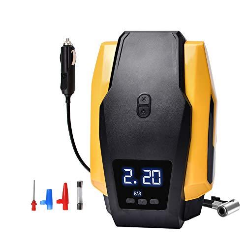Ideal_Swan Compressore Aria Portatile Auto, Gonfiatore per Pneumatici Digitale 12v 120W 150PSI con Display Digitale LED, velocità di Gonfiaggio di 40 L/min.