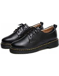 Calzado Informal de Mujer de Moda con Zapatos Gruesos Y Planos , negro , EUR38