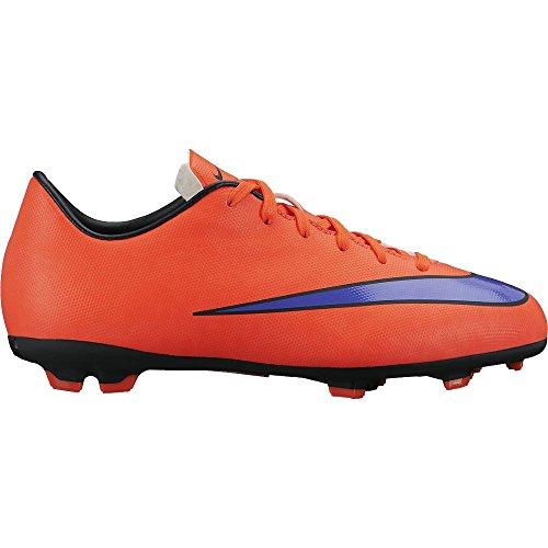 Nike Jr Mercurial Victory V Fg Unisex-Kinder Fußballschuhe Bright Crimson/Persian Violet
