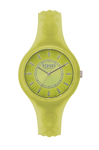 Versus by Versace Damen Datum klassisch Quarz Uhr mit Silikon Armband SOQ120017