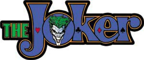 "JOKER Batman The Joker With Logo Sticker autocollant, Officially Licensed DC Comic Villain Artwork Création, 2.5"" x 6.25"" - Long Lasting Die-Cut Vinyl Sticker autocollant DECAL L'AUTOCOLLANT"
