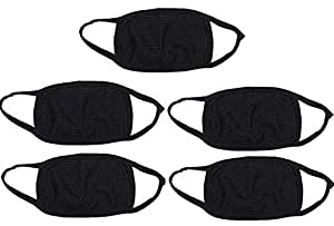 Prime Box Autoridez Bike Face Mask Anti-Pollution Dust Protection Combo (Black) - Pack of 5
