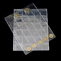 lzwin 30 bolsillos plástico titulares de monedas colección de almacenamiento álbum dinero caso sello moneda pantalla