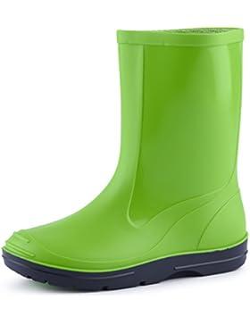 Ladeheid Botas de Caucho de Goma Zapatos de Seguridad Unisex Niños PA120P