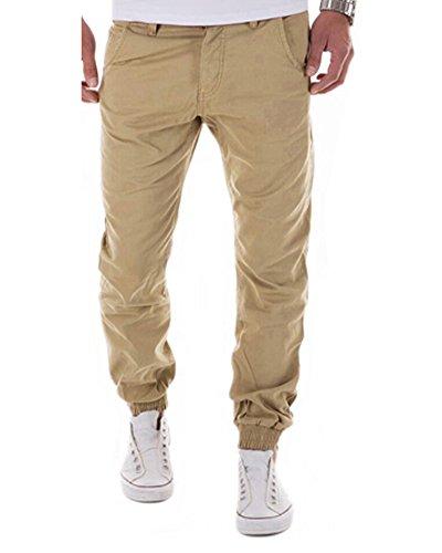 Tomwell Chino Slim Fit Men's Pantalons en Coton Différentes Couleurs Kaki EU XS
