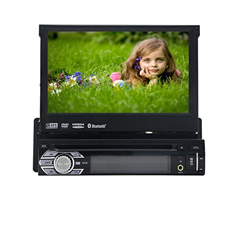 EINCAR Wince Android Einzel-DIN 7-Zoll-Auto-Stereo-Bildschirm-Auto-DVD/CD/USB/SD / MP4 / MP3-Player-Empfänger, Bluetooth-Freisprecheinrichtung, GPS-Navigation, Steuerung drahtloses Fern Len