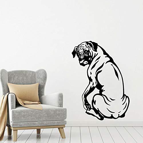 43,6 CM * 60 CM Nette Boxer Hund Wandaufkleber Für Kinderzimmer Schlafzimmer Aufkleber PVC Dekoration