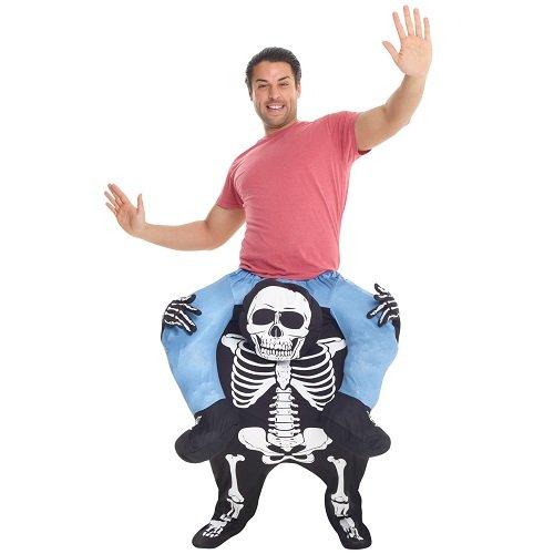 (Morph Neu Huckepack Tragen Witzig Kostüm Unisex - Skelett