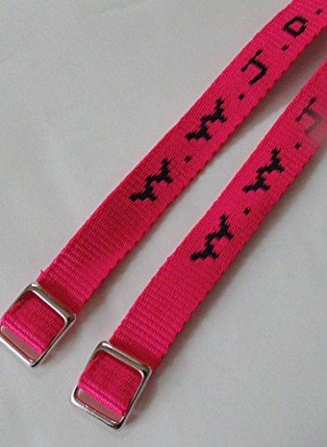 W.W.J.D. 2er-Pack WWJD in vielen modischen Farben (neon-pink)