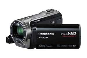 Panasonic HC-V500MEG-K Full-HD-Camcorder (7,6 cm (3 Zoll) Touchscreen, 1,5 Megapixel, 38-fach opt. Zoom, 1Mos Sensor, 32mm Weitwinkel, 2D/3D-Umwandlung), 16GB intern. Speicher schwarz