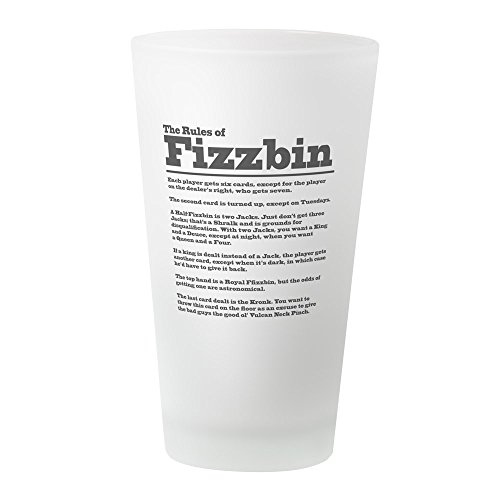 CafePress The Rules of Fizzbin Pint-Glas frosted Mccoy Cup