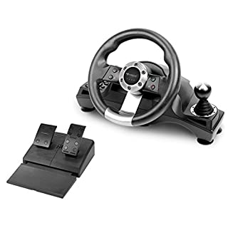 Subsonic - Lenkrad Drive Pro Sport mit Pedaleinheit, Brems- und Ganghebel für Playstation 4, PS4 Slim, PS4 Pro - Xbox One - PS3