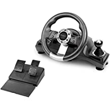 Subsonic - Drive Pro Sport Wheel with pedals and gear-shift lever for Playstation 4 / Xbox One, PS4 Slim, PS4 Pro, Xbox One S and PS3