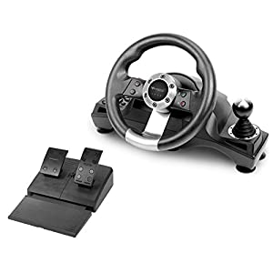 Subsonic – Lenkrad Drive Pro Sport mit Pedaleinheit, Brems- und Ganghebel für Playstation 4, PS4 Slim, PS4 Pro – Xbox One – PS3