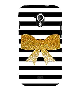 EPICCASE Golden Bow Mobile Back Case Cover For Micromax Canvas 2 A110 (Designer Case)