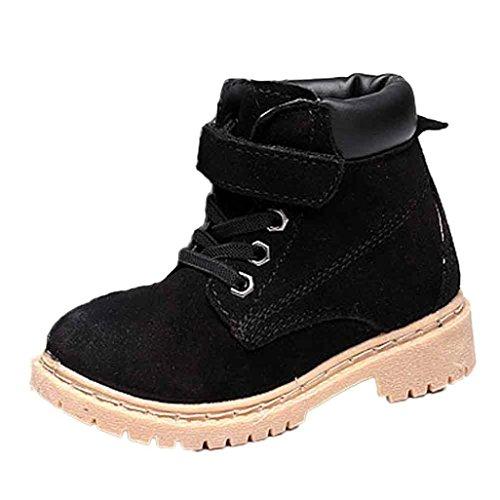 Chaussures de bébé,Fulltime® De la jeune fille garçon cuir coton Boot neige chaude Martin bottines