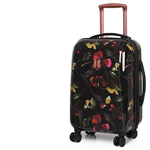 fd92c245b it luggage Dark Floral Virtuoso 8 Wheel Cabin Suitcase - Luggage Boss