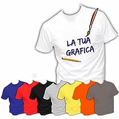 Idea Regalo - 10 T-Shirt Magliette Maglie Personalizzate in Serigrafia AD ALTISSIMA qualità Ideali per Aziende Ditte Negozi Alberghi Staff Personale (A Scelta)