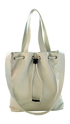 Kronya® | Elegante Tragetasche aus Stoff | Clutch Damen Damenhandtasche Damentasche Handtasche Henkeltasche Rucksack Schulrucksack Schultasche Schultertasche Shopper Tasche Umhängetasche (Beige)