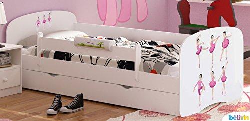 *Belivin – Belivin® Kinderbett Milano mit vielen verschiedenen Motiven (Größen 140x70cm u. 160x80cm) – 160x80cm, 19 Baletttänzerin*