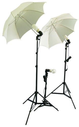 CowboyStudio triplekit fotografia/Video Studio Umbrella luce continua Kit con 3x Day Light CFL lampadine/2x Diffuser ombrelloni per riprese video articolo/Ritratto/
