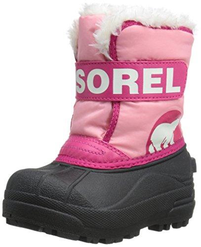 Sorel Snow Commander pour bébé, Chaussures bébé bébé fille debout Rose - Pink (Coral Pink)