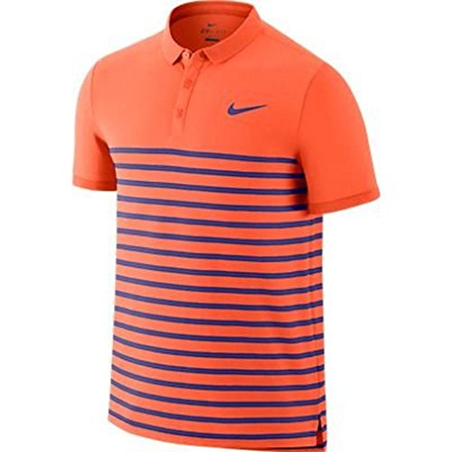NIKE Advantage Dri-FIT Cool Herren Tennis-Poloshirt Orange