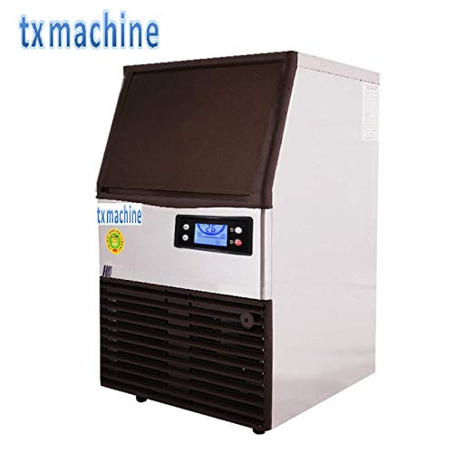TX® Commercial Ice Maker Stainless Steel automatic Ice Machine Industrial Ice Maker Machine ice cube maker Auto Clean with control panel (220V/50HZ, 61.7lbs/24h) (Machine Ice Maker 220v)