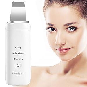 fayleer Peeling Ultrasónico Facial Limpiador Facial Ultrasónica Espátula Ultrasónica Skin Scrubber Exfoliación Limpiador…