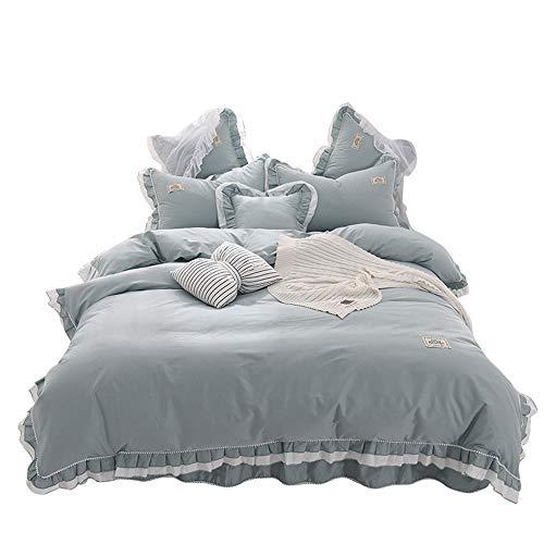 YUANLAISHINI 4-StüCk Ruffled Quilt Mit Bett-Rock Und 2 KissenbezüGe 1.8M Bedding - Ruffled Zwei Stück