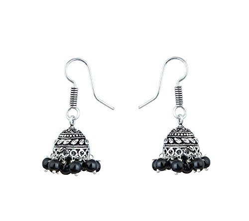 Bollywood Inspired Stylish Party Wear Silver Plated Traditional Jhumki Earrings jewellery For Girls/Women  available at amazon for Rs.89