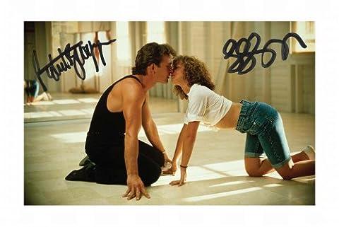 Dirty Dancing - Patrick Swayze & Jennifer Grey Signed Autographed 21cm x 29.7cm A4 Photo Poster