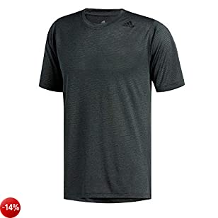 adidas Freelift_Tech Fitted Climacool Tee, Maglietta Uomo, Carbon/Heather, L