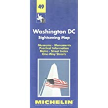 Washington DC sightseeing map : museums, monuments, practical information, metro, street index, one-way streets