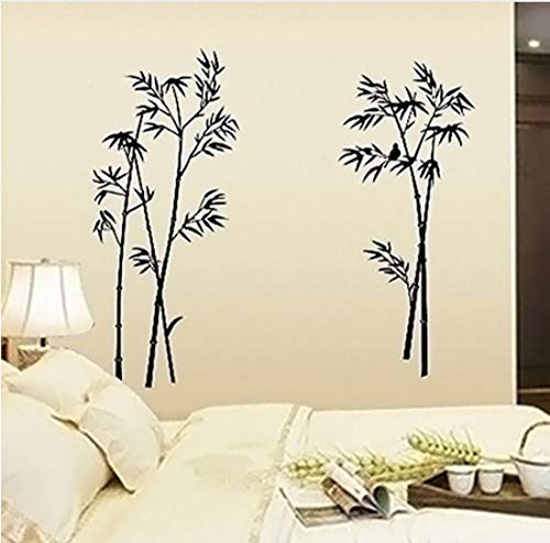 Home-source-bambus (Abnehmbare Vogel Bambus Wandaufkleber Wohnzimmer Schlafzimmer Aufkleber DIY Home Decor)