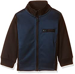 United Colors of Benetton Boys Jacket (16A3PONCK104I901EL_Charcoal and Blue)