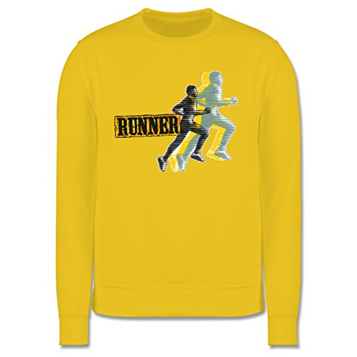 Laufsport - Runner - Herren Premium Pullover Gelb