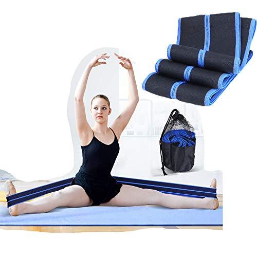 ZZKJNIU Tanzgummiband - Yoga-unterstützter Stretching-Trainingsgürtel, Home-Fitness-Spanngürtel, Umfang 180 cm/Breite 8 cm,Black Good Grips Black Turner