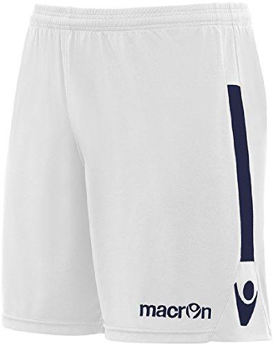 Calzoncini Corti Uomo Pantaloncini Da Calcio Calcetto Macron Elbe Shorts Bermuda Bianco/Navy