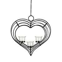 Harmony Glass Tea Light Candle Holder With Metal Sconce - 3 Piece Set