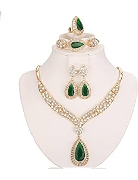 Moochi Schmuckset, 18Karat vergoldete Perlen, Afrika-Style Halskette/Ohrringe/Ring/Armband
