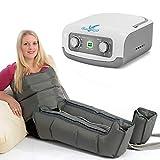 Vein Angel  4 appareil de massage par glissement avec bottes et ceinture abdominale, 4 coussins d'air, durée & pression...