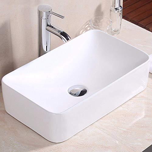Aufsatzwaschbecken Waschbecken Hängewaschbecken Waschtrog Waschtisch Keramik weiß Nano-B