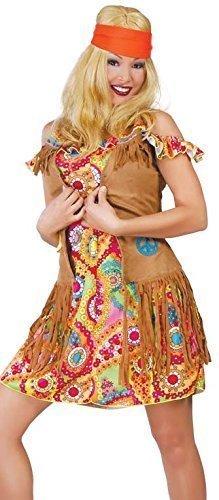Damen Sexy Hippie Hippy 1960s 60's Kostüm Kleid Outfit Größe EU (Besten Am Kostüme Hippie)