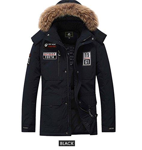 Mens giù Cappotto invernale Casual Uomo Duck Down Jacket Plus dimensione 3XL nero solido maschi rossi giù cappotti Black Blue