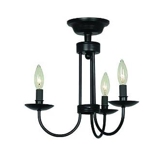 Artcraft Lighting Pot Racks Semi-Flush Mount Light, Black by Artcraft Lighting