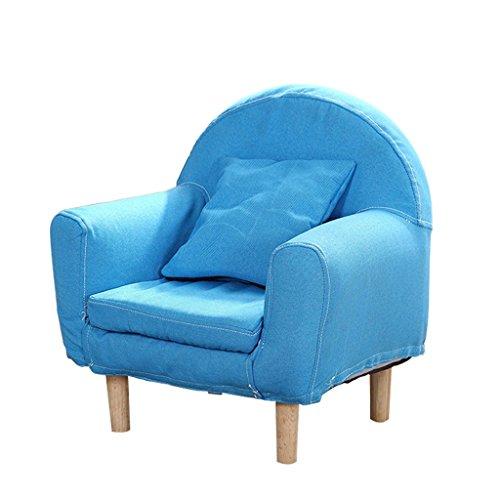 ALUK- small stool Divanetto per Bambini, Sedile Moderno Semplice, Sgabello da Lettura per Bambini, Sedile Lavabile in Tessuto Comodo Mini Divano Luminoso L43cm * H51cm