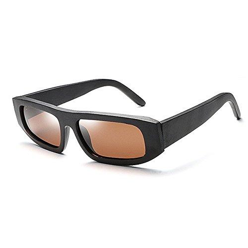 Ppy778 Handgefertigte Herren Bambus Arm Holz Sonnenbrille Shades UV400 Holz Retro Herren Cool Einzigartiges Design Handgefertigt (Color : Silver)