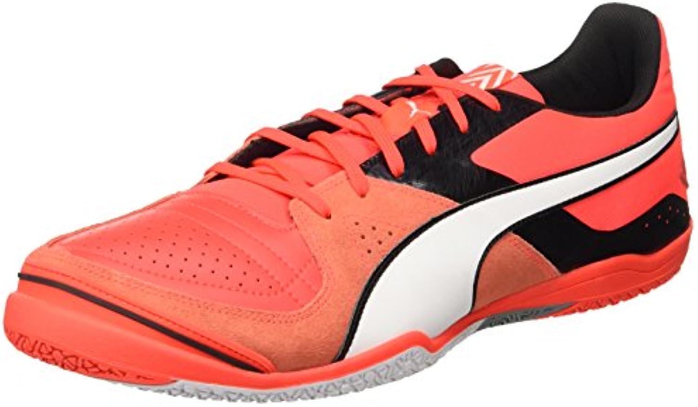 Puma Invicto Sala, Zapato de Fútbol Man (Football), Red Blast White Black, 10 EU