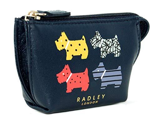 Radley Kleine Geldbörse für Münzen, Leder, mit Reißverschluss, Marineblau -